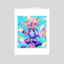 rolling bubbles - Art Card by Poopie