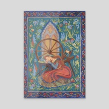 Sleeping Beauty - Acrylic by Miranda Moorhead