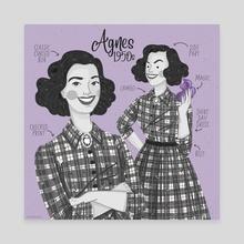 Agnes 1950s - Canvas by Alice Negri