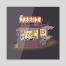 Shrimp Hut (Night) - Acrylic by Tim Walsh