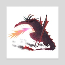 GOT - Drogon - Canvas by Nikolas Ilic