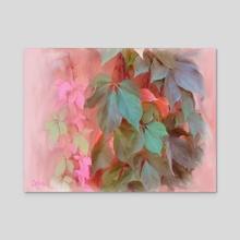 Napa Ivy - Acrylic by Tom Carlos