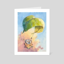 Catching Air - Art Card by Chuck Grieb