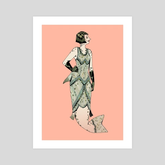 Salmon Mermaid by Caitlin Soliman