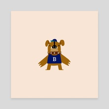 mascot / butler - Canvas by alex eben meyer