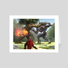 Fiery Intervention - Art Card by Adam Paquette