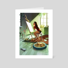 Scary Blank Canvas - Art Card by Yaoyao Ma Van As