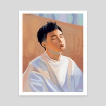 Do Kyungsoo Pastels - Canvas by Khanh Van Pham