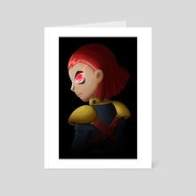 Red Eye - Art Card by Kristen Hartbarger