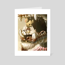 Barber Shop Mouse - Art Card by Andre Garcia