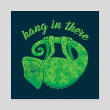 Hang In There Magical Chameleon - Canvas by John Schwegel