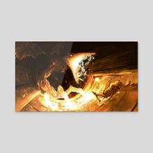 Samus vs Ridley - Acrylic by Ant