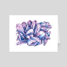 Ocean Blues and Purples - Art Card by M.Veronica Silva
