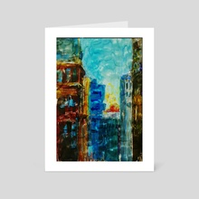 Old City Sky Scrapers - Art Card by Vidka Art
