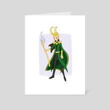 Loki - Art Card by Anna Eng