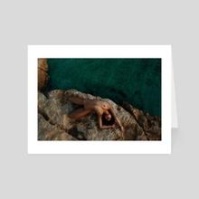 Sunbathing - Art Card by Lenny V
