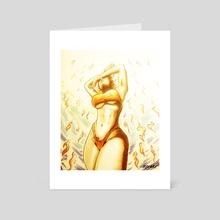 She was born in the Sun - Art Card by Tyler Vasquez