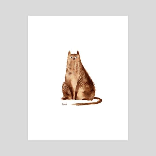 Aloof Cat by Chamisa Kellogg