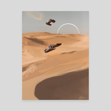 Dune Racers - Canvas by Bryn G Jones