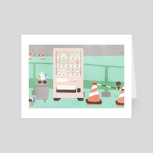 vending machine - Art Card by momogou