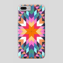 Triangles 2 abstract tribal pattern - Phone Case by Mihalis Athanasopoulos