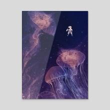Ocean of Space - Acrylic by Enkel Dika