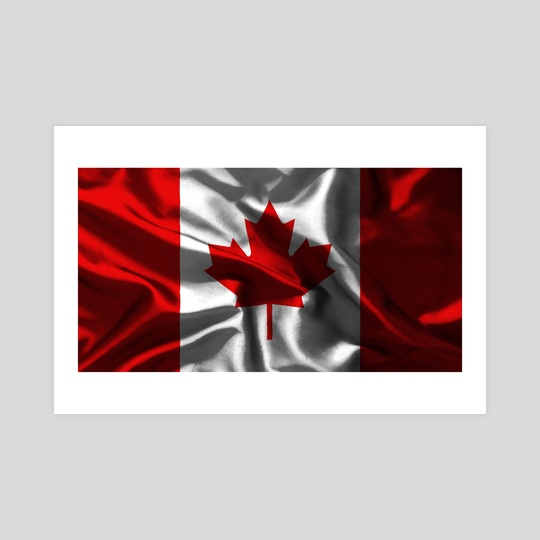 canada flag with texture by Marco Livolsi