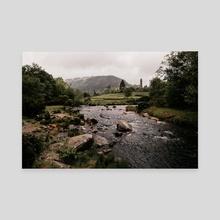 Rainy Glendalough Day - Canvas by Jillian Noss