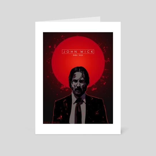 John Wick Poster [Blood Variant]  by Kazi Sakib