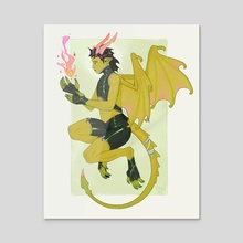 Dragon Student - Acrylic by Chantel Eagle