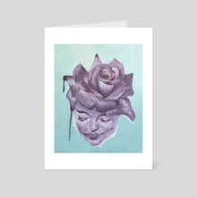 Rose Woman - Art Card by Alexis Moulds