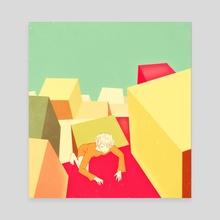 Cube - Canvas by Sai Tamiya