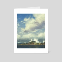 City skyline at noon - Art Card by Steph Wootha