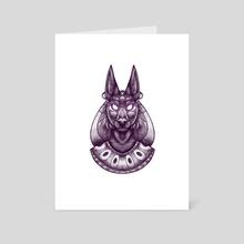 Anubis Interpretation  - Art Card by Kitty Belmont