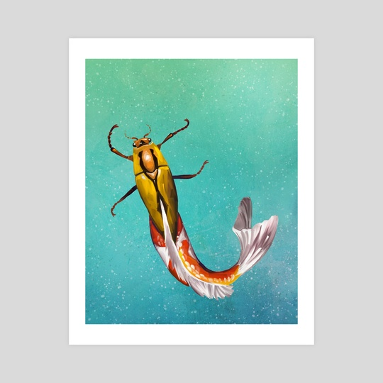 Koi-Beetle - Creature Art by Crystal Smith