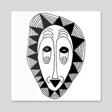 The mask - Acrylic by Tati Alecrim