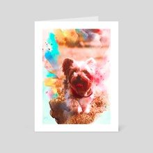 Yorkshire Terrier - Art Card by Visuals Artwork