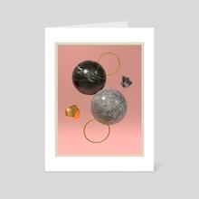 Marble assembly - Art Card by Gaetan Edo Von Muralt