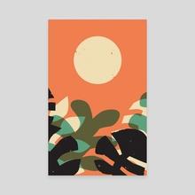 Jungle Sun #2 - Canvas by Wilmer Murillo