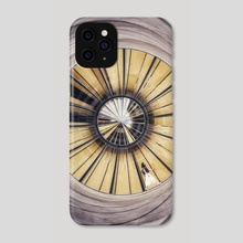 Walking around in circles (color) - Phone Case by Vince  Boisgard