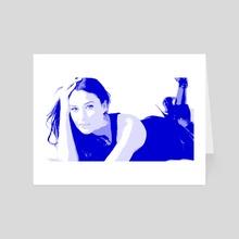 NEW POP SERIES / Monica Bellucci - Art Card by Giorgio D'Albano