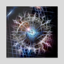 Spiral of time in crystal sphere - Acrylic by Bruce Rolff