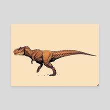 Tyrannosaurus Rex - Canvas by Zoltán Sidó
