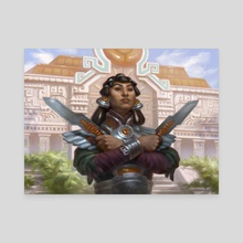 Tocatli Honor Guard - Canvas by Sara Winters
