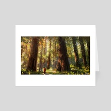 a walk among giants - Art Card by Jason Scheier