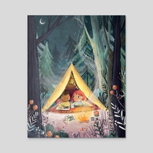 Camping Trip - Acrylic by Lucy Fleming