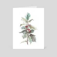 A Holly Twig - Art Card by Aurora Borealis