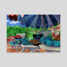 Squirtles on vacation - Canvas by Arina Korczynski