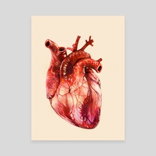 Heart Study - Canvas by Morgan Davidson