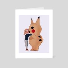 brie and pikachu - Art Card by maxy artwork